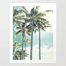 Under the palms Art Print