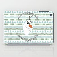 olaf iPad Cases featuring Olaf the Snowman by Fox and Bunny Co.