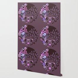 Afro Diva Lavender Purple-Taupe Wallpaper