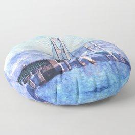 The Mackinac Bridge Floor Pillow