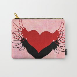 Couple of winged hearts Carry-All Pouch