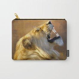 Roaring lion portrait Carry-All Pouch
