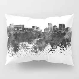 Grand Rapids skyline in black watercolor Pillow Sham