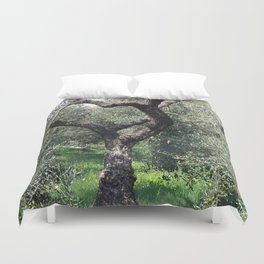 Old Olive Tree Mediterranean Grove Duvet Cover