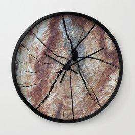 Old Stump rustic decor Wall Clock