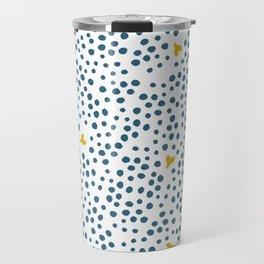 Sunny Blues - Dots Travel Mug