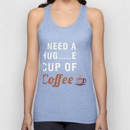 Funny Costume For Coffee Lover. Gift For Dad/Mom. Unisex Tank Top