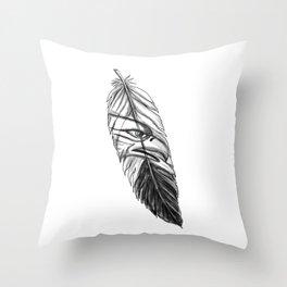 Sea Eagle Feather Tattoo Throw Pillow