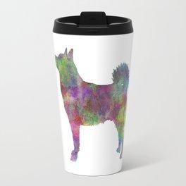 Norwegian Buhund in watercolor Travel Mug