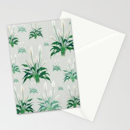 peace lily painting Stationery Cards
