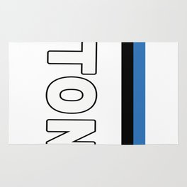 Estonia National Sports Jersey Style Rug