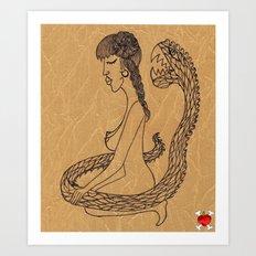 SnakeGirl Art Print