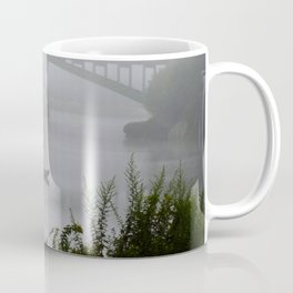 Foggy Fishing Day on the Delaware River Coffee Mug