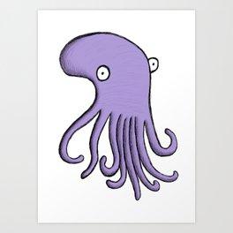 Purple Octopus Art Print