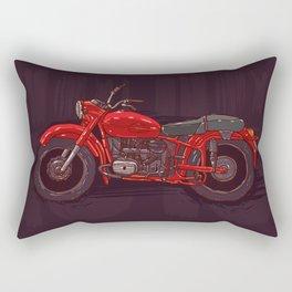 red vintage motorcycle Rectangular Pillow