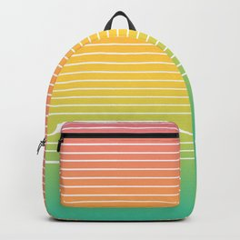 Horizontal Lines (Tropical Fruit) Backpack