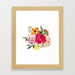 Watercolor Spring Flowers Framed Art Print