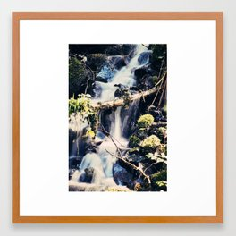 Water Falls in the Forest Framed Art Print