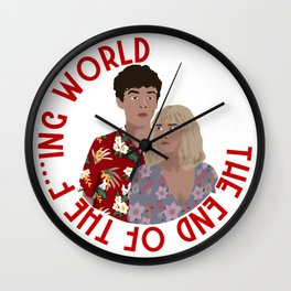 The ENd Of The F***ing World Wall Clock