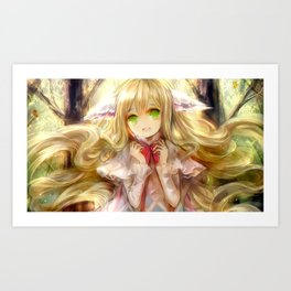 Mavis Vermillion Art Print