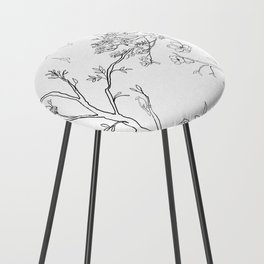 Color Your Own Chinoiserie Panels 1-2 Contour Lines - Casart Scenoiserie Collection Counter Stool