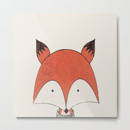 Cute Woodland Animal Fox Metal Print