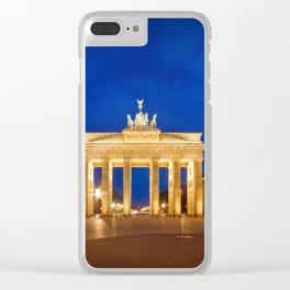 BERLIN Brandenburg Gate Clear iPhone Case