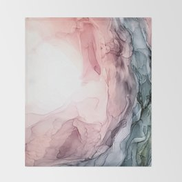 Blush and Blue Dream 1: Original painting Throw Blanket