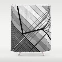 Gray Geometry 2 Shower Curtain
