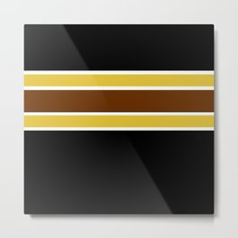 Team Colors...Brown , gold, white and black Metal Print