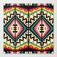 tribal Canvas Prints featuring Tribal by Ornaart