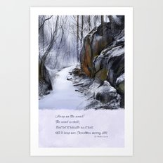 The Wind is Chill Art Print