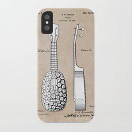 patent art Kamaka Ukulele 1927 iPhone Case