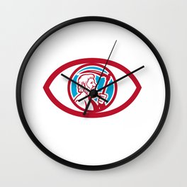 Cronus Holding Scythe Eye Retro Wall Clock
