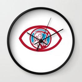 Cronus Holding Scythe Eye Retro Wall Clock