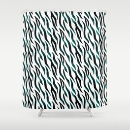 Here Kitty Kitty - Teal Shower Curtain