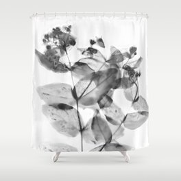 Ghostly Blooms Shower Curtain