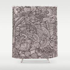 Doodle 8 Shower Curtain
