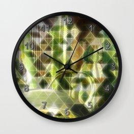Cactus Garden Art Triangles 2 Wall Clock