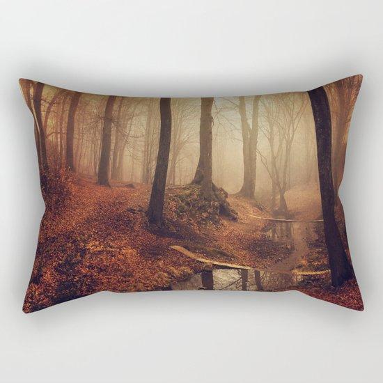 Forest Creek At Sunrise Rectangular Pillow