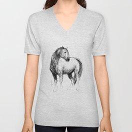 Horse (Mustang) Unisex V-Neck