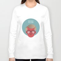 woody allen Long Sleeve T-shirts featuring WOODY ALLEN by Gerardo Lisanti