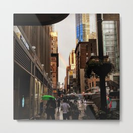 33rd Street with Rainbow Metal Print