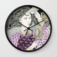 glasses Wall Clocks featuring Glasses by Yuliya