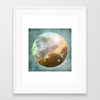 outer space Framed Art Prints featuring Outer Space by Katie Micks