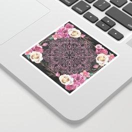 Mandala Night Rose Gold Garden Pink Black Yellow Sticker