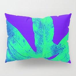 Blue Ultraviolet Green Earth Day Fern Pillow Sham