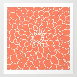 Coral Chrysanth Art Print