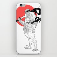 ninja turtle iPhone & iPod Skins featuring A Female Ninja Turtle by Rach-Draws