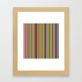 Colorful Stripes Barcode 1 Framed Art Print